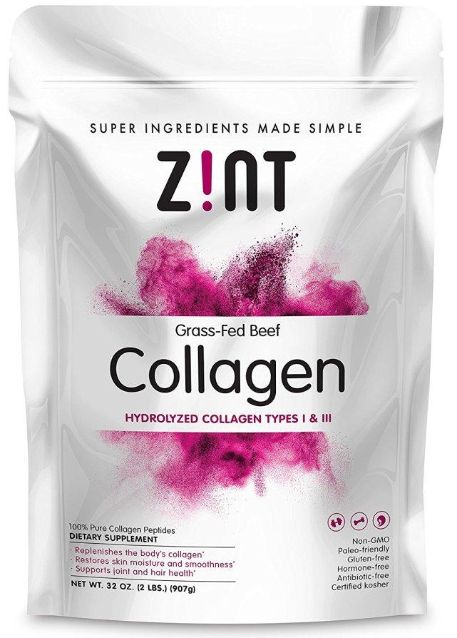 bag of collagen powder