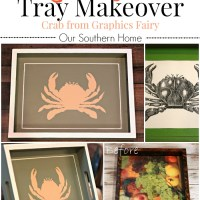 Beachy Thrift Store Tray Makeover