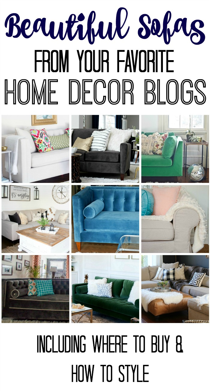 Beautiful sofas and how to style them from your favorite home decor bloggers!