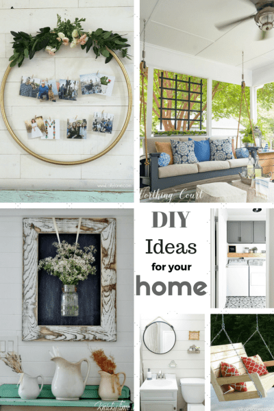 DIY Ideas for Your Home are the features for this week's Inspiration Monday link party! Come join the fun!!
