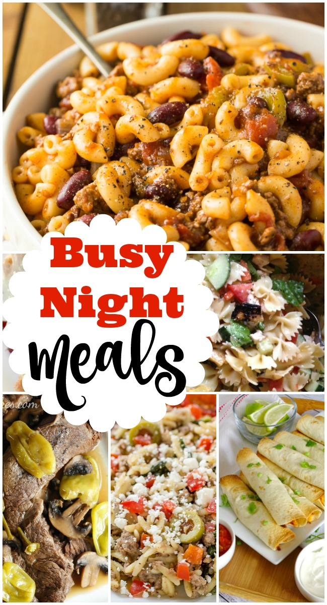 Busy night meals are the features from this week's Inspiration Monday link party!