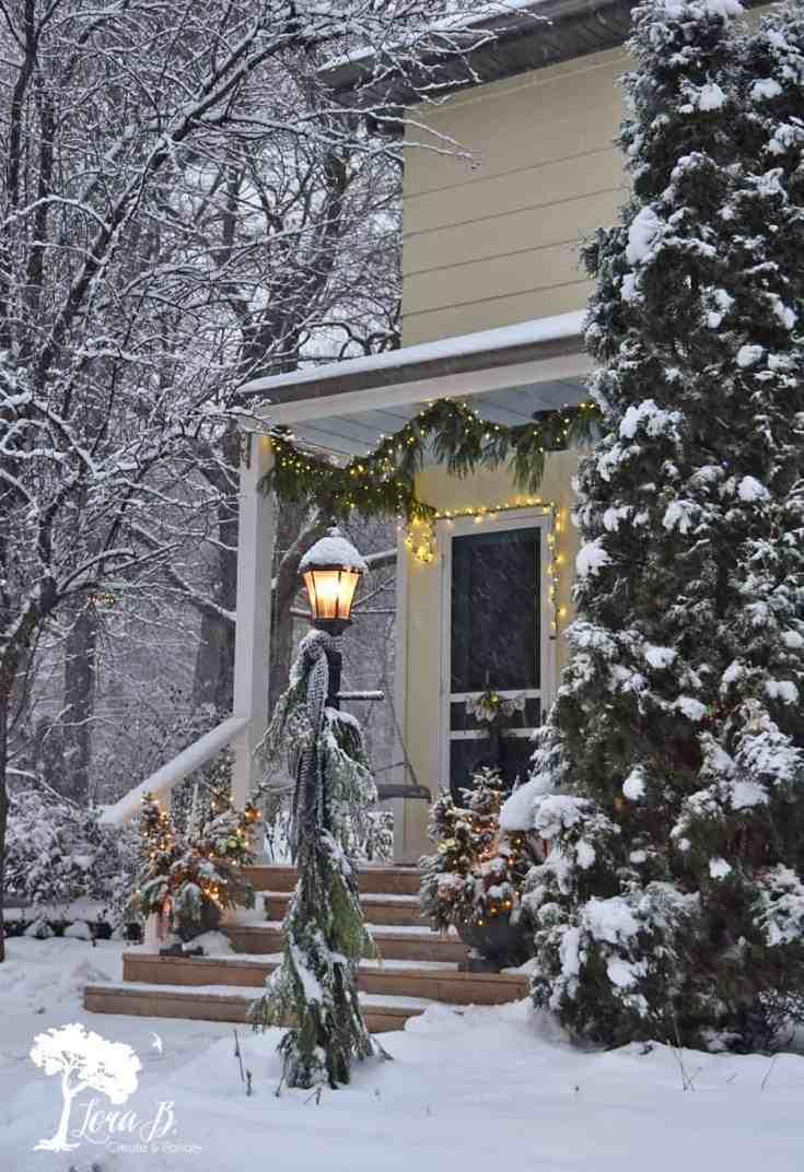 Our Vintage Farmhouse Christmas Porch