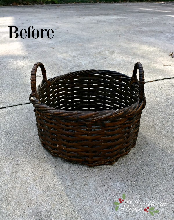 Christmas Tree Basket DIY by Our Southern HomeTree basket 2