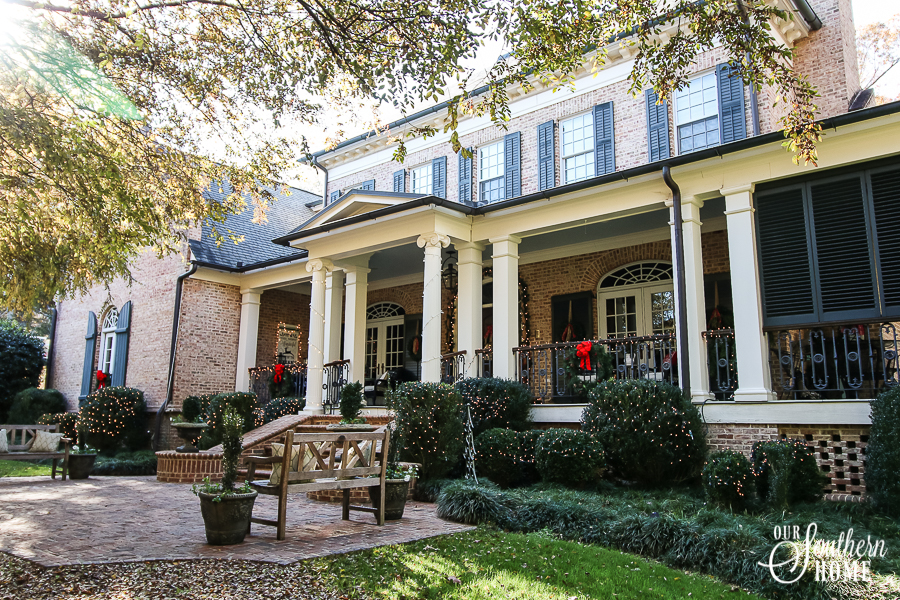 Christmas home tour full of traditional Fench Farmhouse style.
