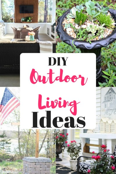 Ideas for Outdoor Living are the features from this week's Inspiration Monday link party!