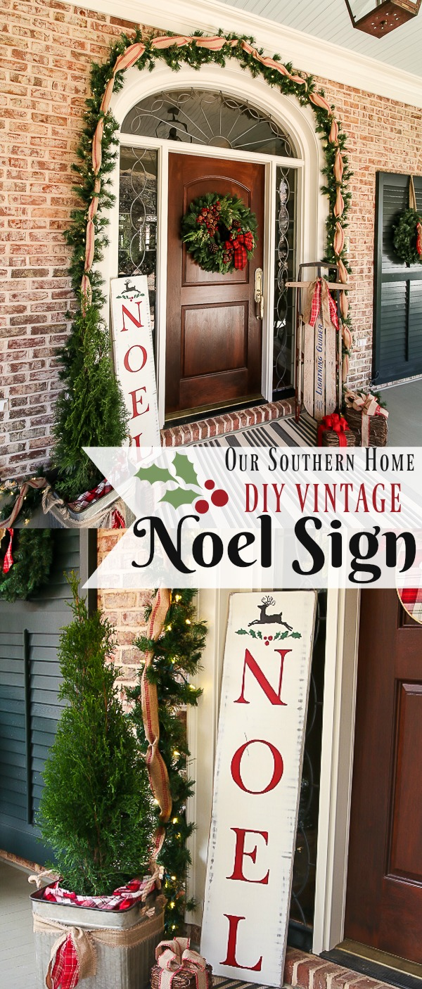 DIY vintage Noel Sign is a simple DIY. Includes free printables to make the sign!