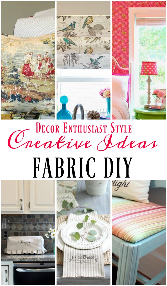 Cool DIY project ideas for the home using fabric via Our Southern Home
