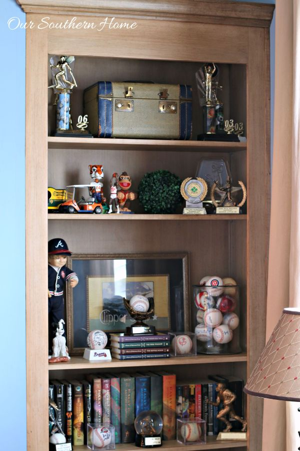 Ideas for decorating bookcases for teens by Our Southern Home