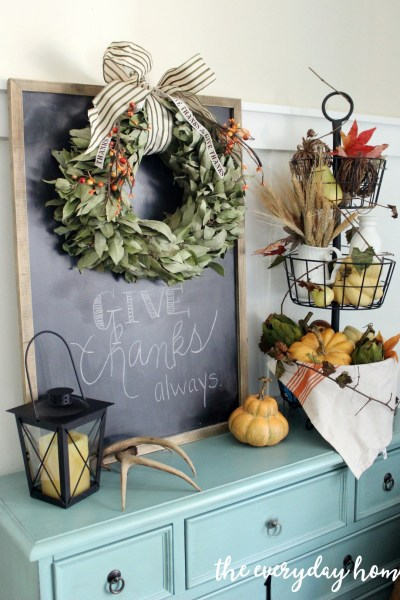 Fall vignette from The Everyday Home....a feature from this week's Inspiration Monday link party!