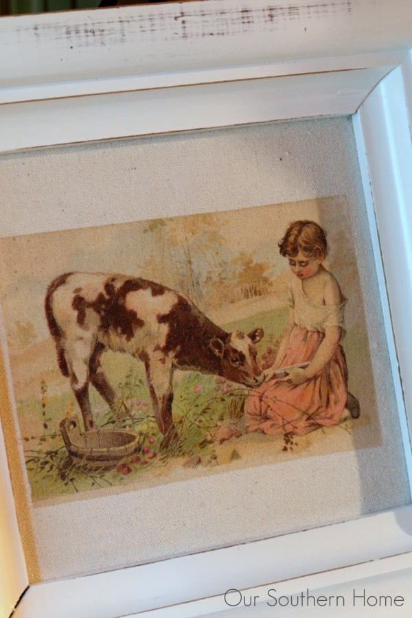 Thrift store frame becomes Farmhouse Art Makeover with