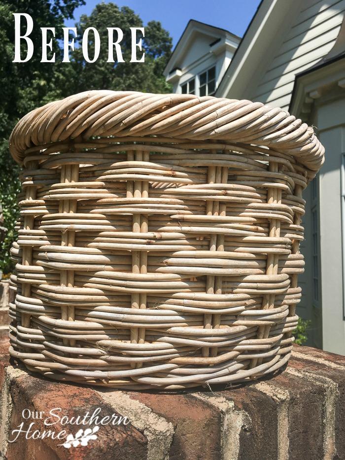 weathered basket makeover