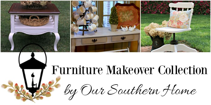 Furniture makeover collection by our southern home with DIY tutorials. It's easier than you think!