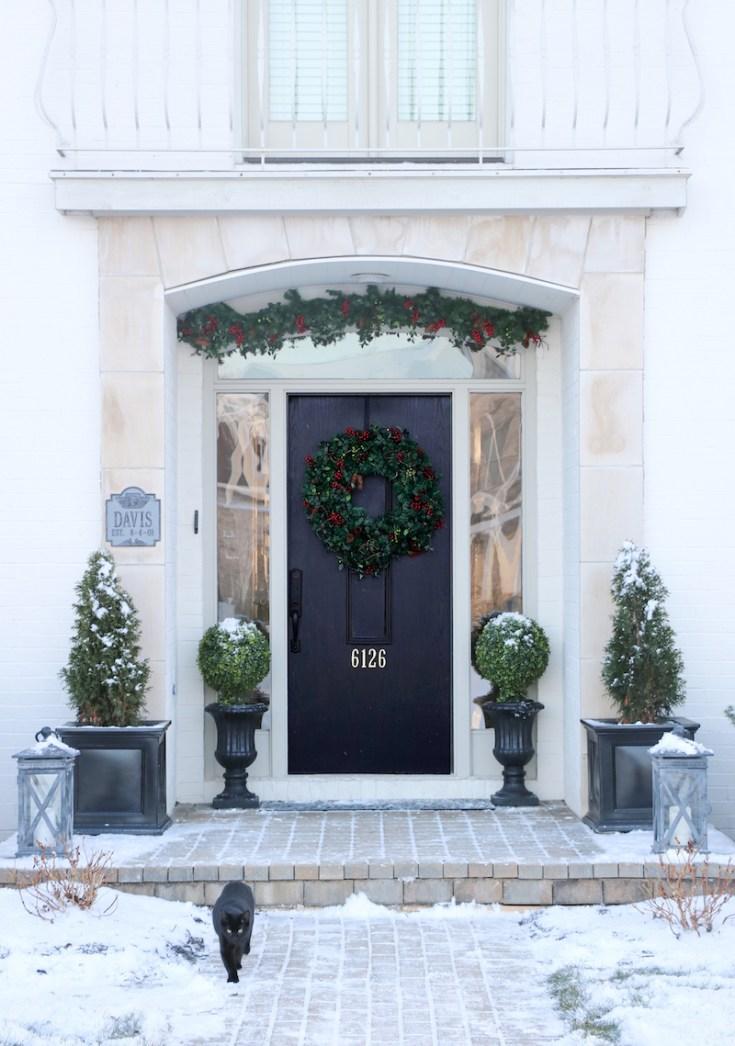 Holiday Front Door Decor - Sincerely, Sara D.