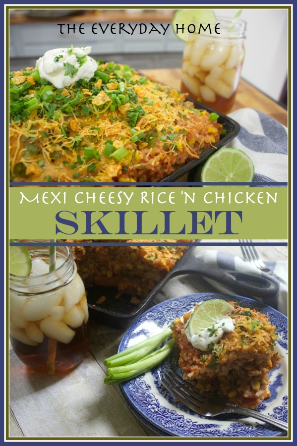 How to Make Mexi Cheesy Rice and Chicken Skillet | The Everyday Home | www.everydayhomeblog.com