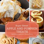 Inspiration Monday link party is live with this week's features! Check out these yummy Sweet Fall Treats with Apple and Pumpkin desserts!