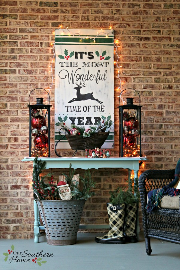 its the most wonderful time of the year wooden sign by our southern home