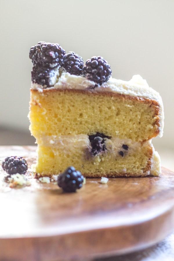 Lemon and Blackberry Cake