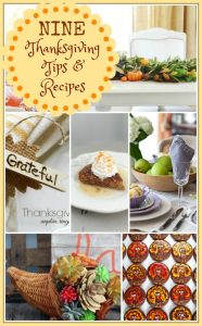 Nine Thanksgiving Tips and Recipes