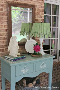 DIY No Sew Lamp Shade