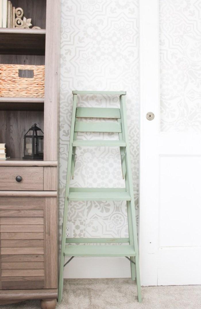 painted vintage ladder