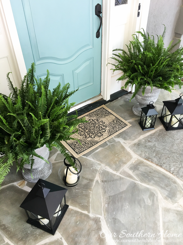 Affordable outdoor decor our southern home for Big lots garden decor