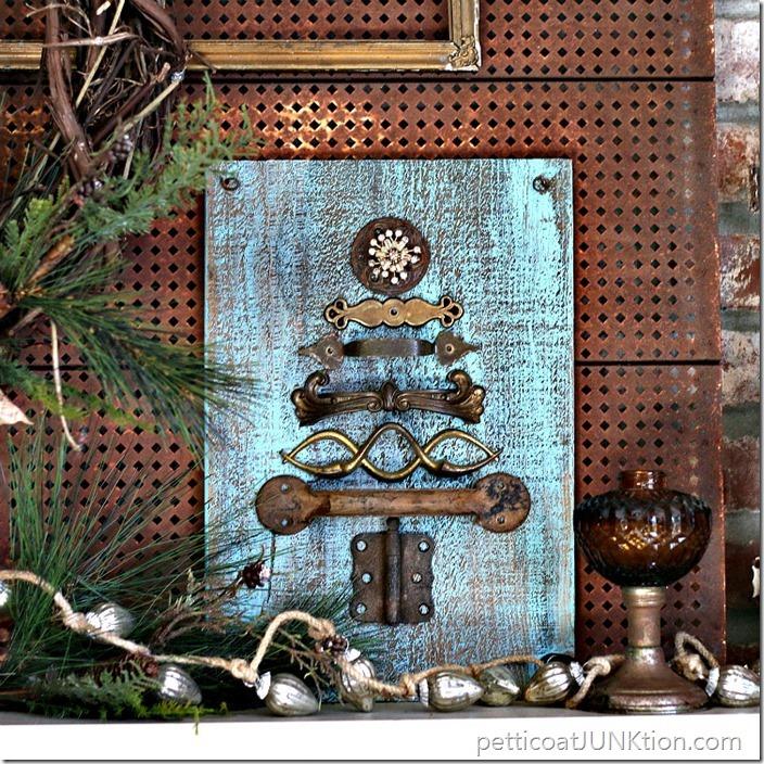 Reclaimed rusty hardware tree Petticoat Junktion