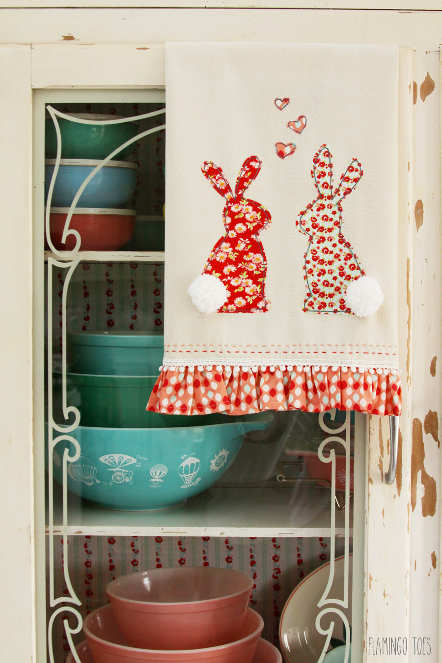 Retro Bunny Towel {Inspiration Monday Feature}