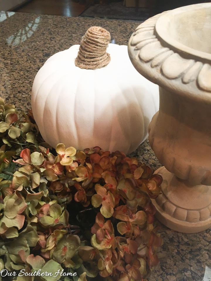 faux pumpkins diy