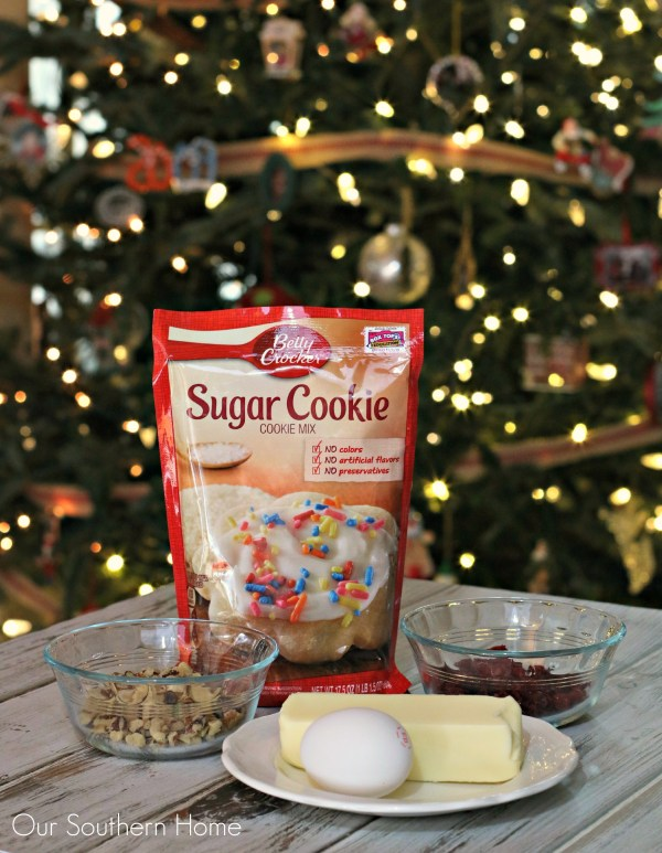 Walnut and Cranberry Cookie / Christmas baking just got easier with Betty Crocker Cookie mixes via www.oursouthernhomesc.com / #bakingwithbetty #ad
