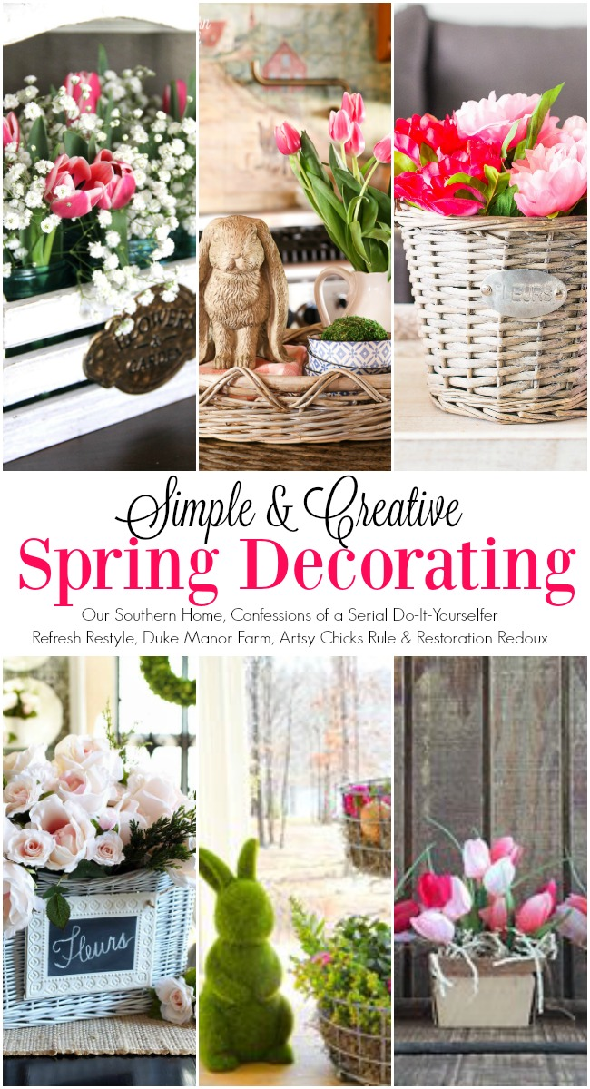 Spring decorating ideas with baskets and more from the Decorating Enthusiast Team!
