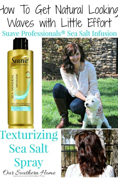 How to get natural looking waves with little effort using the New Suave Professionals® Sea Mineral Infusion Texturizing Spray #ad #BeautyByMe