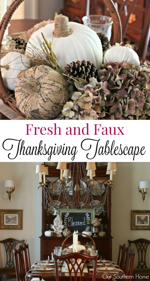 Thanksgiving tablescape for 2015 by our southern home PIN