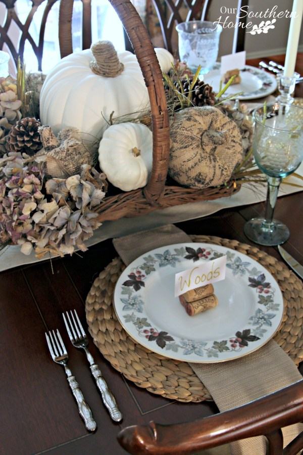Thanksgiving tablescape for 2015 by our southern home20