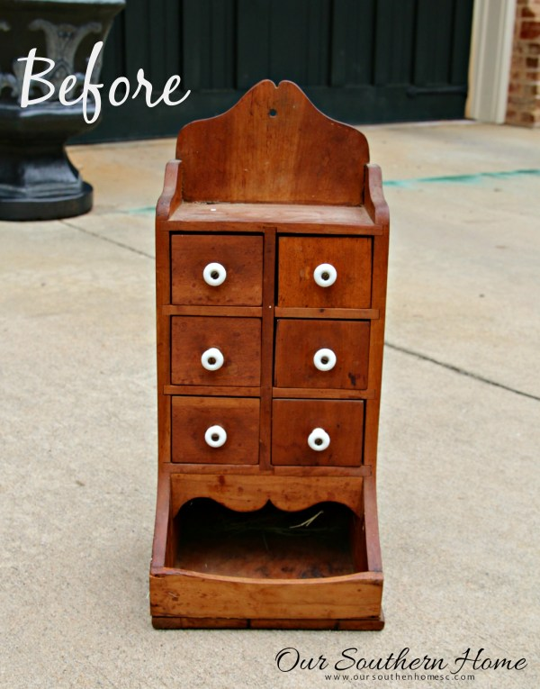 Wow! This thrift store piece was turned into a stylish desktop organizer with a can of spray paint!
