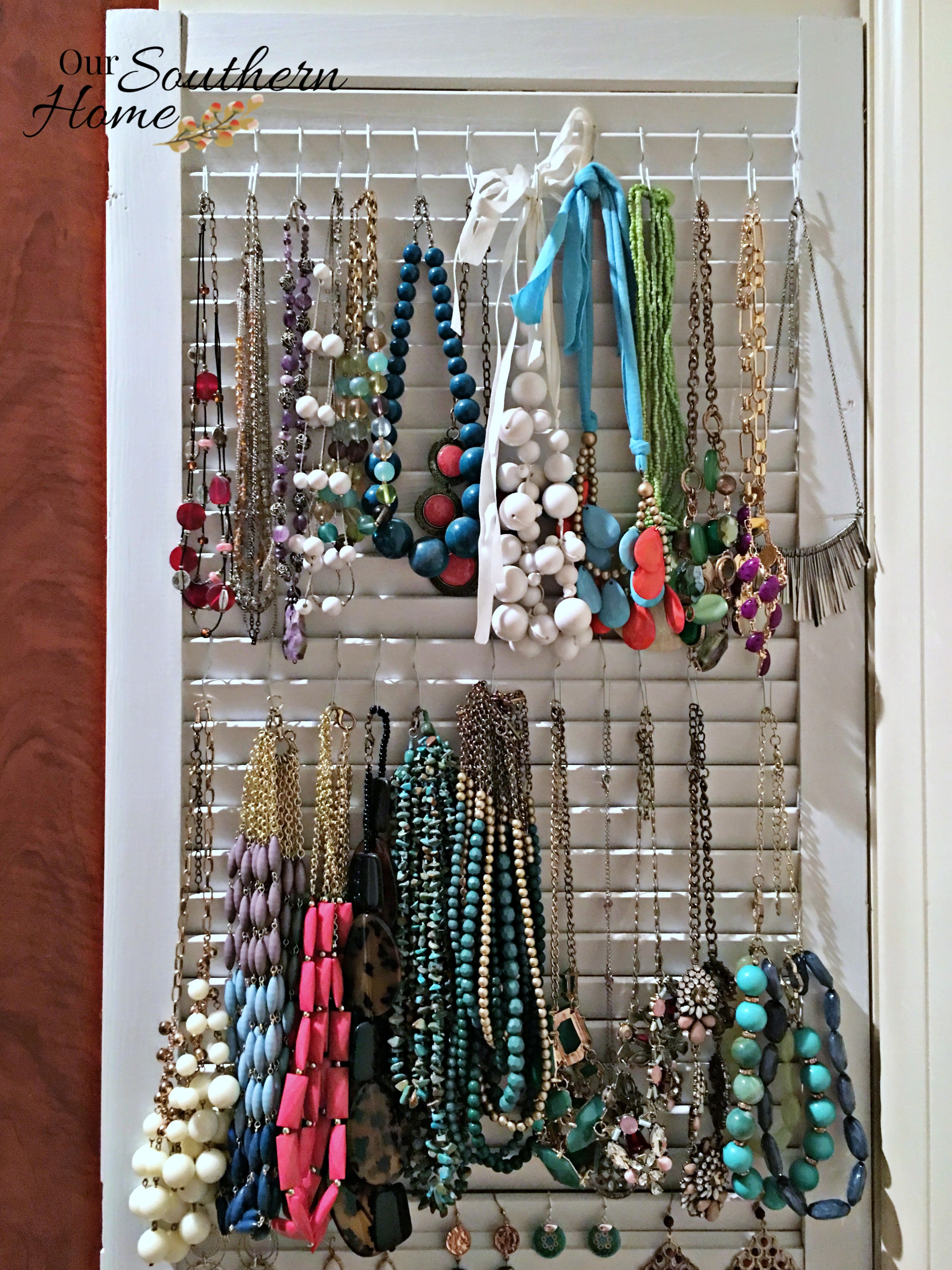 Shutter Jewelry Organizer Our Southern Home