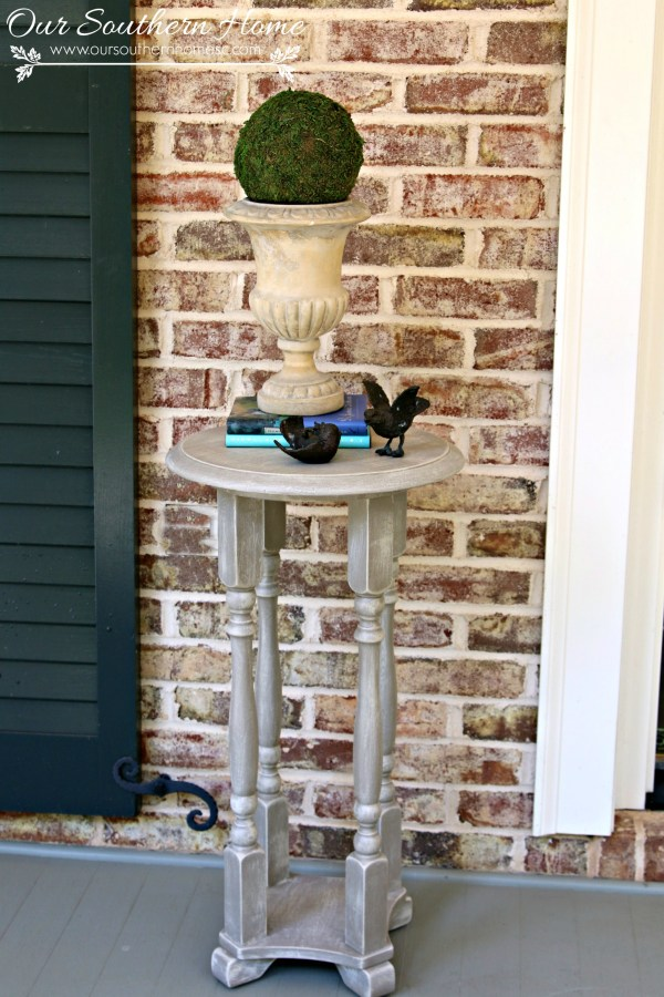 Easy DIY weathered rustic paint finish treatment by Our Southern Home