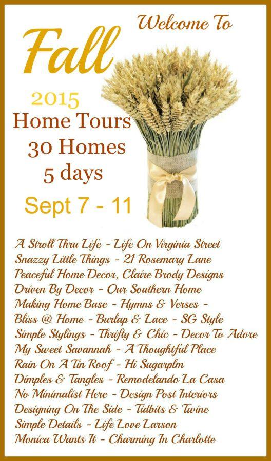 Wheat 2015 Fall Tours List