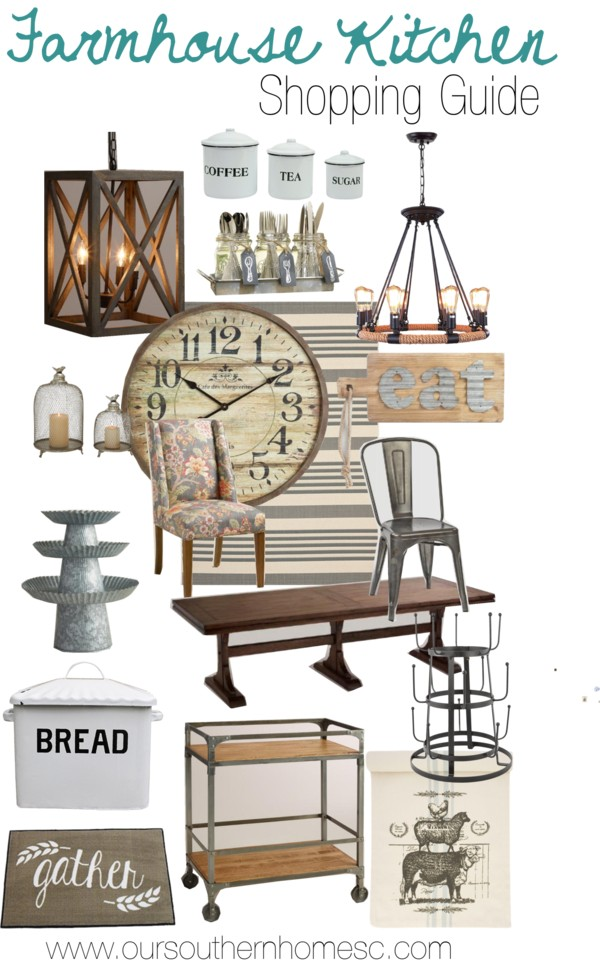 Farmhouse kitchen shopping guide to get that look!