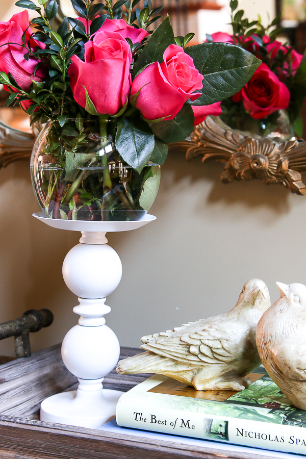 Thrift store candlesticks are not just for candles! Check out these multiple uses from this post!!! #thriftstoremakeover #candlesticks #DIY #spraypaint #homedecor
