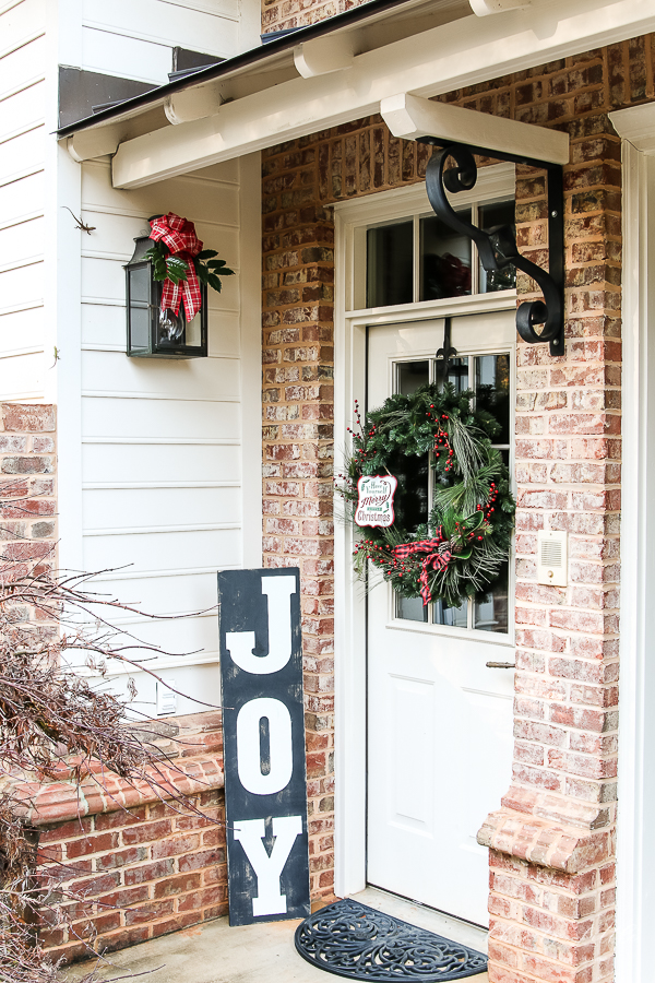door with wreath