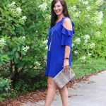 Cobalt Blue Cold Shoulder dress from Umgee is my new favorite dress!
