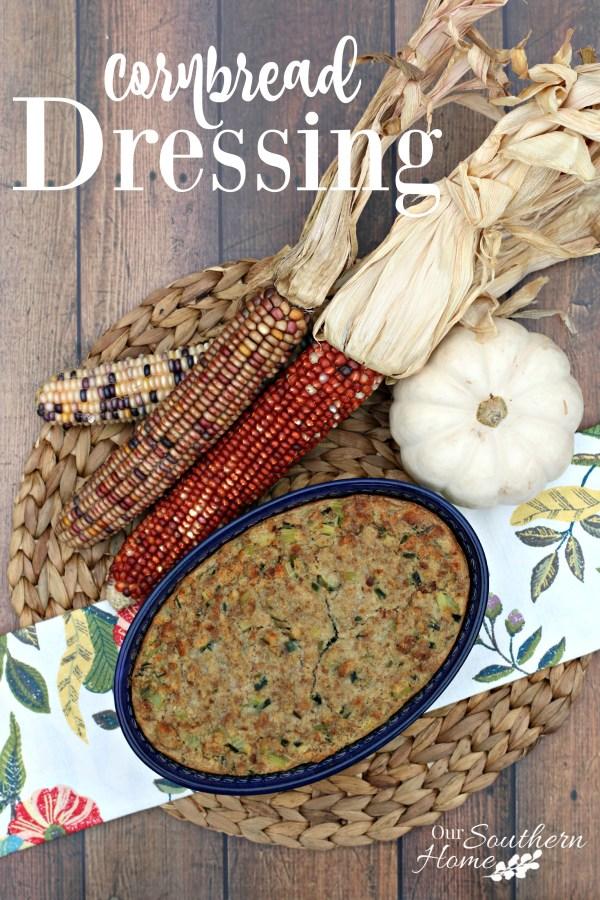 Cornbread Dressing Recipe using College Inn broth found at Walmart. #ad #POURLOVEINN #cornbreaddressigng #thanksgivingrecipes