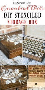 Essential Oils Stenciled Box
