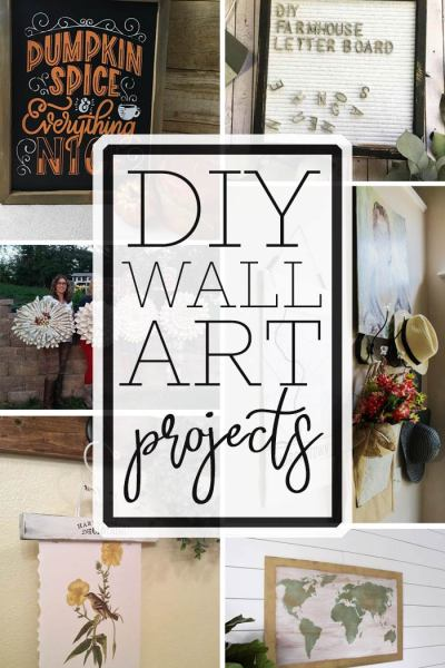 collage of wall art with text overlay