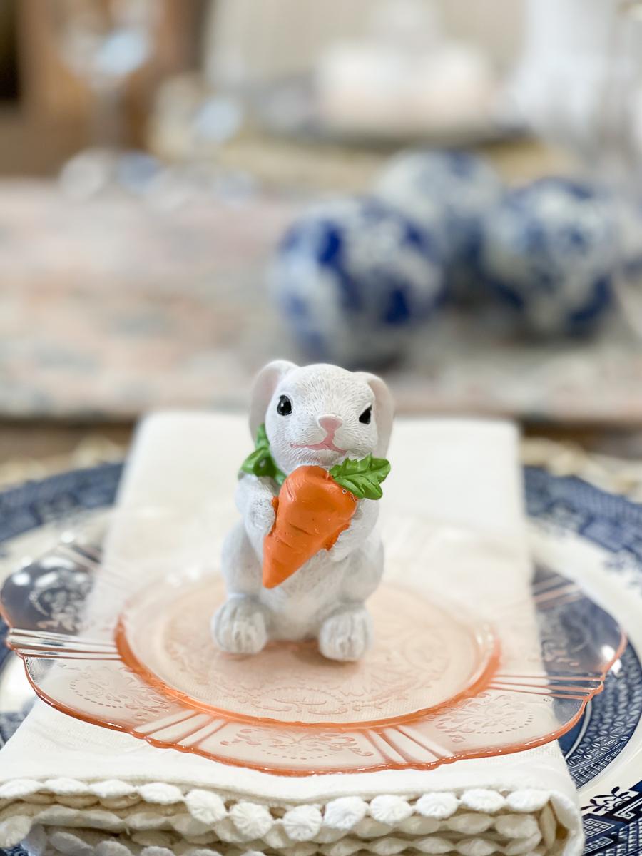 bunny on a plate
