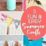 Fun and Easy summer crafts are the features from this week's Inspiration Monday link party!