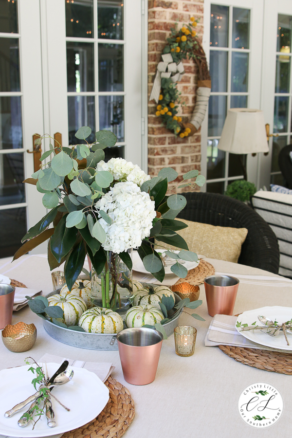 Fall Dining on the Porch