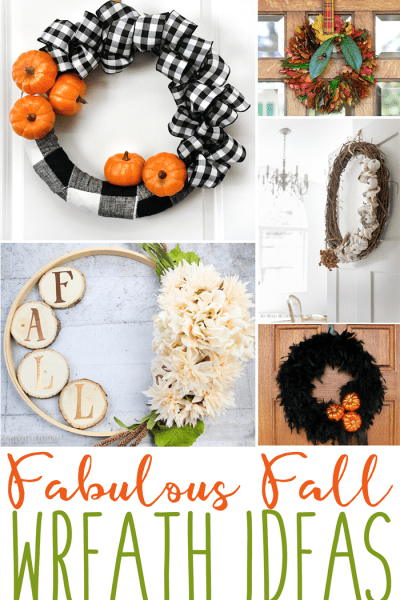 Fabulous fall wreaths are the features from Inspiration Monday link party!