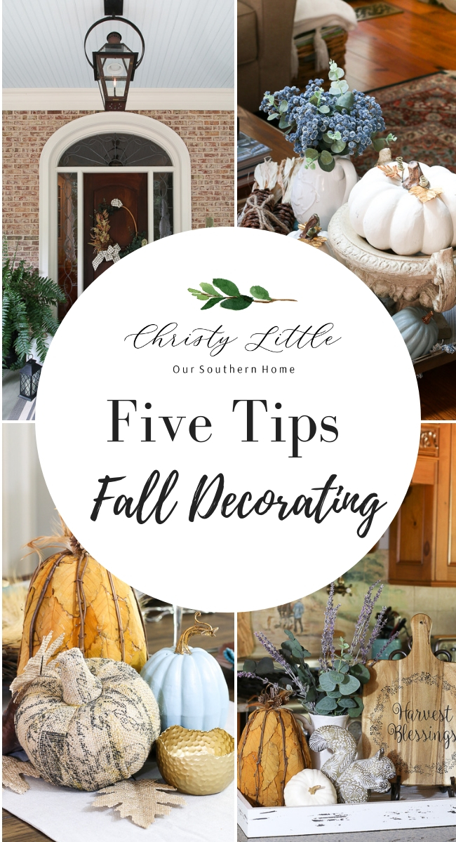 fall decor collage with text