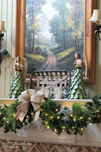 French Farmhouse Christmas Mantel